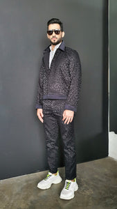 Tristan Harrington leopard jacquard jacket