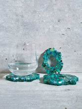 Load image into Gallery viewer, Turquoise Resin Coasters (Set of 3)
