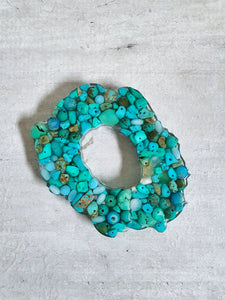 Turquoise Resin Coasters (Set of 3)