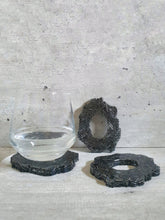 Load image into Gallery viewer, Ahthracite Bugle Beads Resin Coasters (Set of 3)