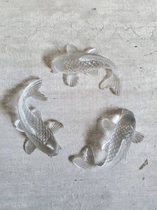 Clear Resin Koi Fish Decorative Ornaments