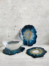Load image into Gallery viewer, Hand Painted Geode Resin Coasters (Set of 3)