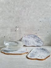 Load image into Gallery viewer, Hand Painted Marble Geode Resin Coasters (Set of 3)