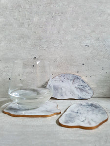 Hand Painted Marble Geode Resin Coasters (Set of 3)