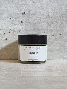 Auggie Soy Wax Candle - Lavender / Orange