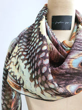 Load image into Gallery viewer, Multicolour Print Silk Scarf