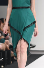 Load image into Gallery viewer, ESTHER EMERALD BEADED DRESS