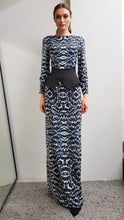 Load image into Gallery viewer, LIYA PHEASANT FEATHER PRINTED DRESS