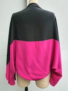 Colour Block Silk Shrug