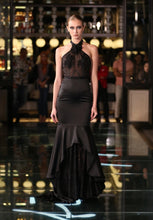 Load image into Gallery viewer, GWEN HALTER GOWN IN NOIR