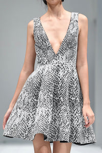 PRIYANKA PYTHON COCKTAIL DRESS