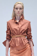 Load image into Gallery viewer, ROKSANDA SALMON PLEATED SHIRT