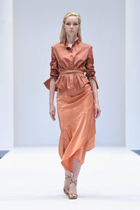 ROKSANDA SALMON PLEATED SHIRT
