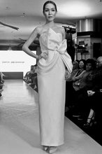 Load image into Gallery viewer, Akiko Shantung silk draped bow dress