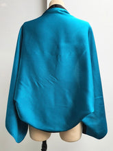 Load image into Gallery viewer, Turquoise Satin Shrug