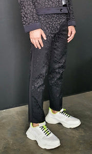 Logan slim jacquard pants