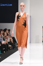 Load image into Gallery viewer, ELIANA TANGERINE SHIFT DRESS