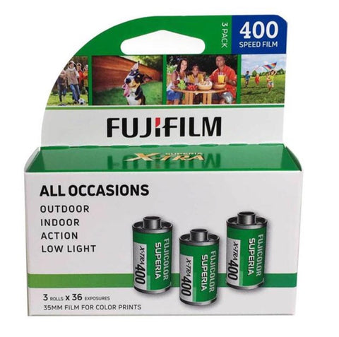 Fujifilm Superia X-TRA 400, 3 Pack, 36 Exp, US