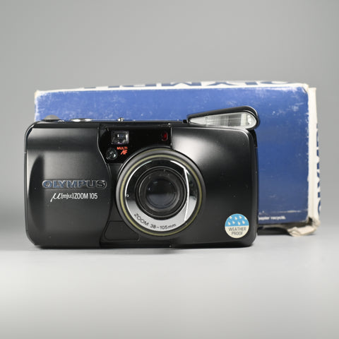 Olympus Mju Zoom 105 Black (With Box)