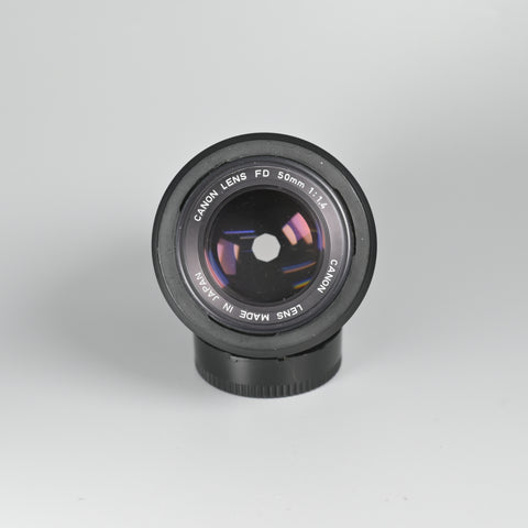 Canon FD 50/1.4 Lens (With Hood)