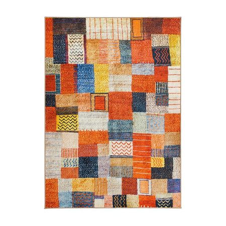 Patchwork Multicolor Washable Rug