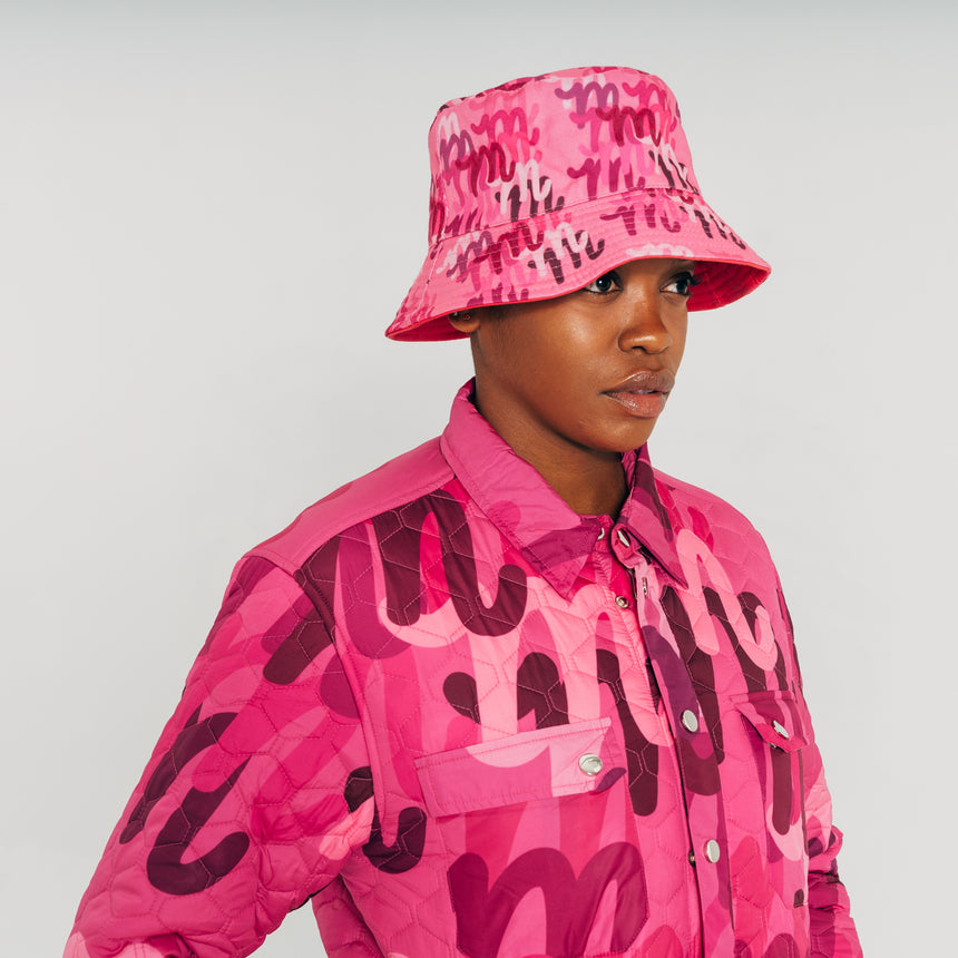 Reversible Bucket Hat Pink