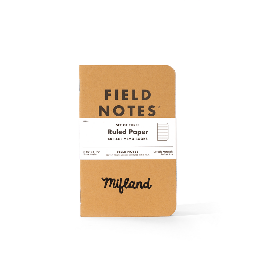 Field Notes By Mifland (3 Pack)