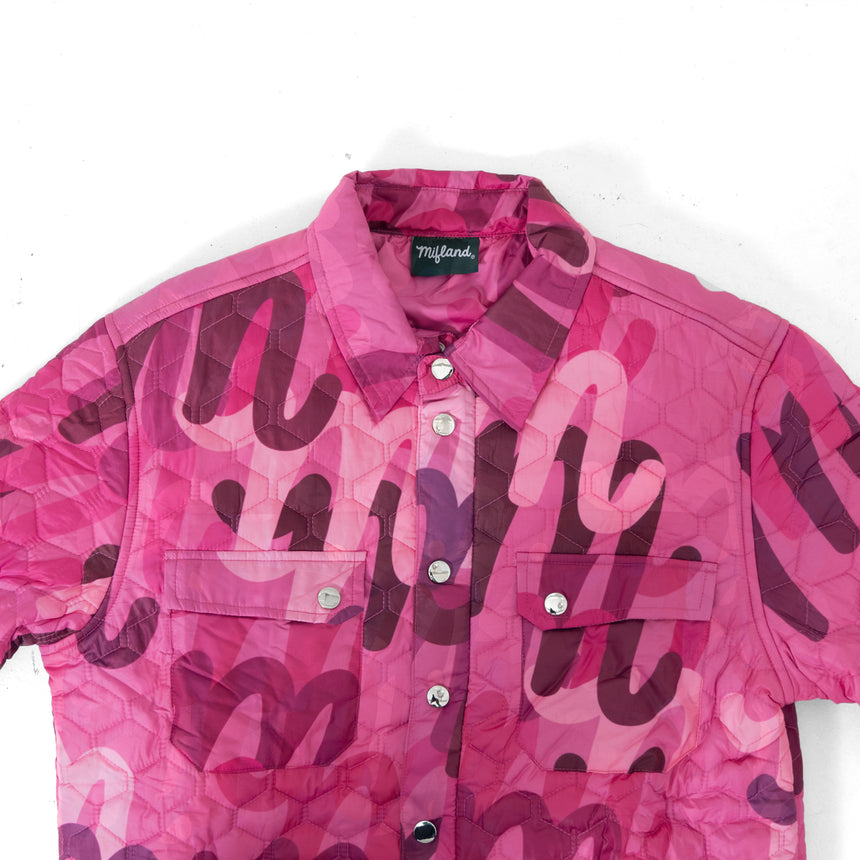 Million M Quilted Overshirt QS LE Pink