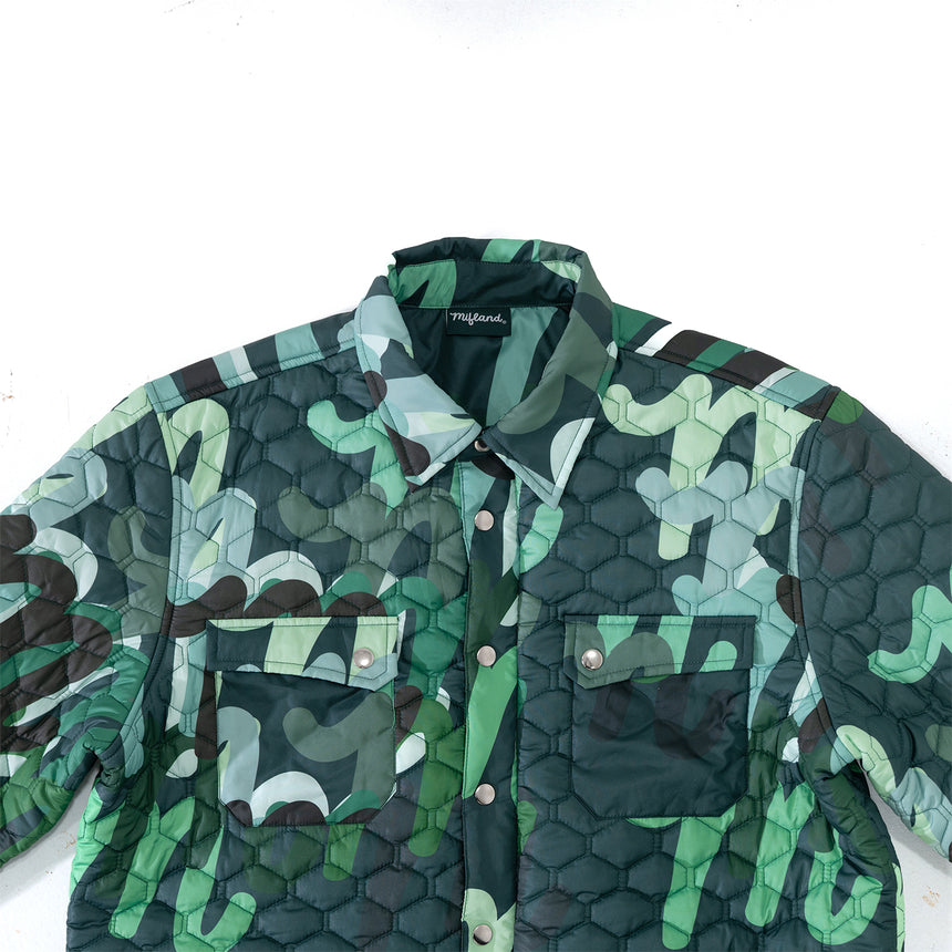 Million M Quilted Overshirt QS LE Green