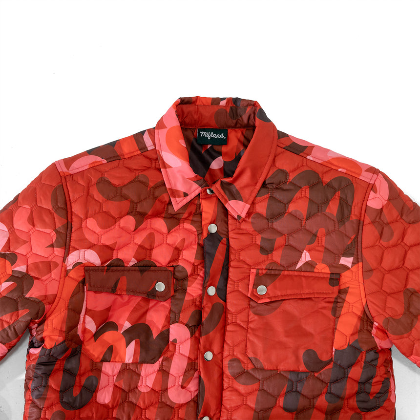 Million M Quilted Overshirt QS LE Red