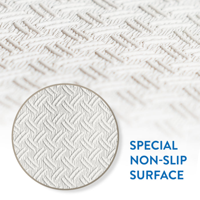 Tatkraft Fine Rubber Square Non-Slip Shower Mat