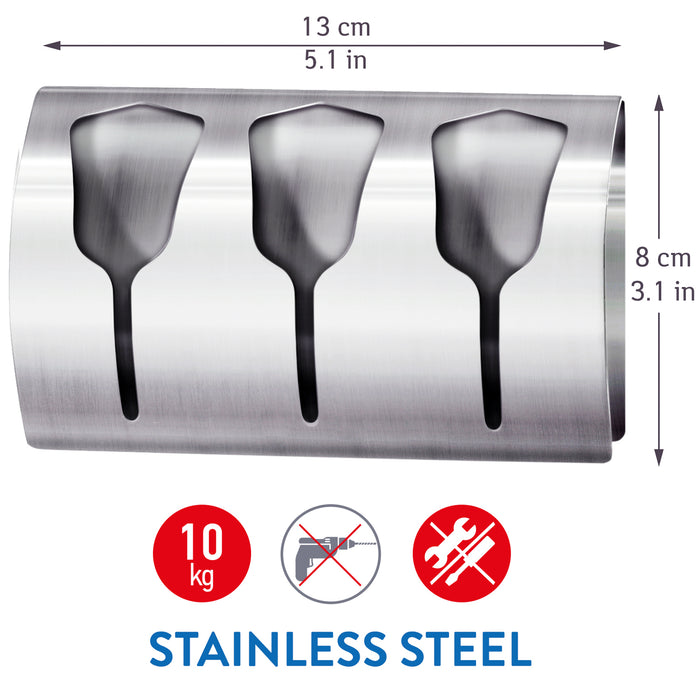 Tatkraft Bell Stainless Steel Triple Towel Rail for Bathroom and Kitchen