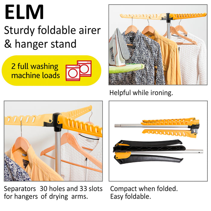 ArtMoon Elm Foldable Drying Stand & Ironing Hanger Rack