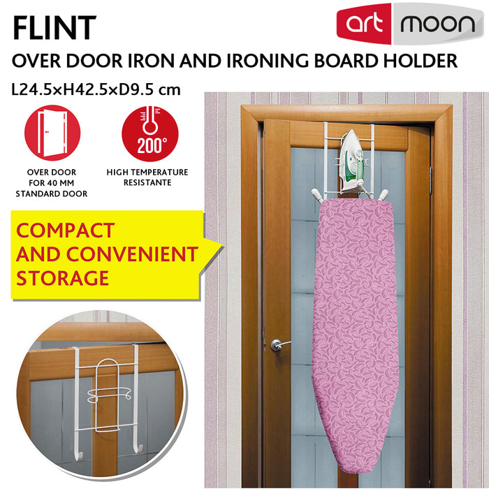ArtMoon Flint Over Door Iron and Ironing Board Hanger