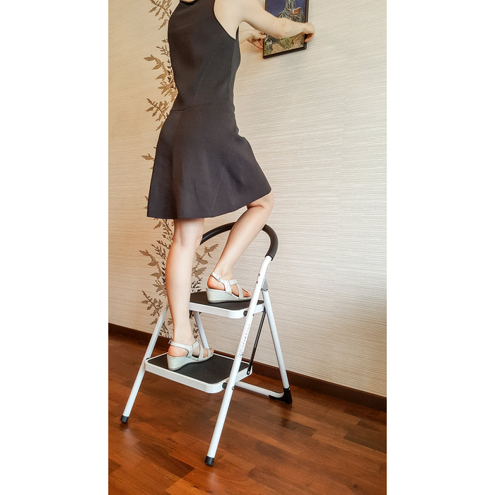 Wonder Worker Barrow Heavy Duty Folding 2 Step Ladder