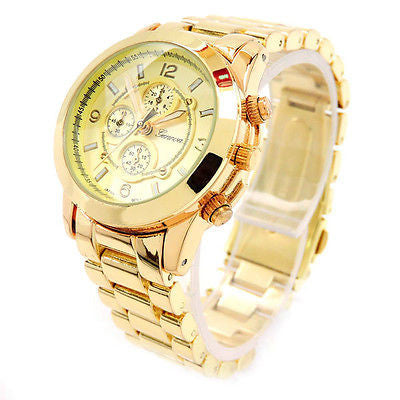 Small Size Gold Tone Geneva Women's Watch