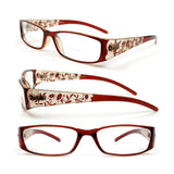 Reading Glasses Bifocal Floral Pattern Crystal Readers