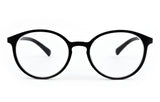 Matte Finish Classic Round Frame Geek Retro Style Light Weight Spring Hinges Reading Glasses