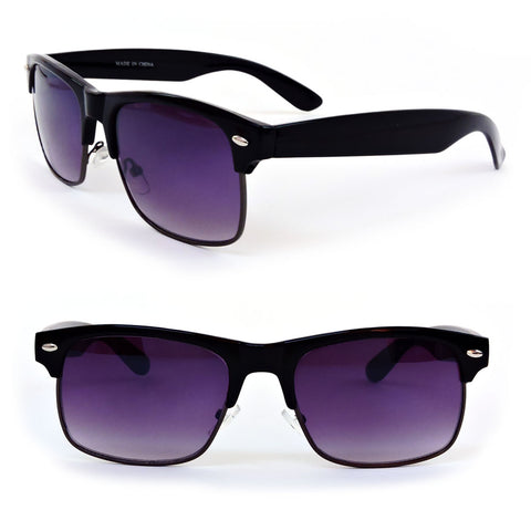 Retro Style Large Rectangle Frame Man or Women's Sunglasses