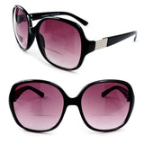 Bifocal Oversized Sun Readers Round Frame Women's Reading Sunglasses