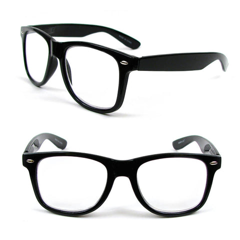 Black Large Classic Frame Reading Glasses Nerd Geek Retro Vintage Style Fashion Readers 100-300