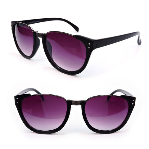 Clubmaster Semi Frame Black Tortoise Women's Fashion Sunglasses