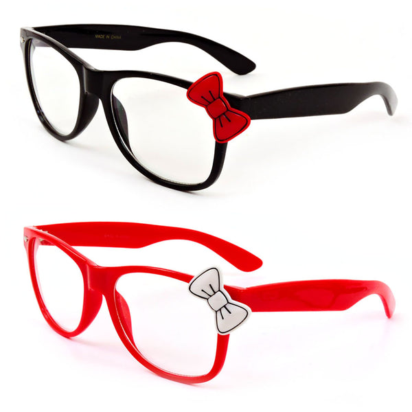 b06cbd80b Hello Kitty Clear Lenses Glasses with Bow Party Reading Glasses Black –  ShowTime Collection