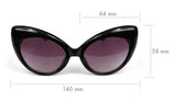 Cat Eye Oversized Black or Tortoise Vintage Style Women's CatEye Sunglasses