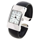 Silver Case Snake Style Band Small Size Eikon Women's Bangle Cuff Watch