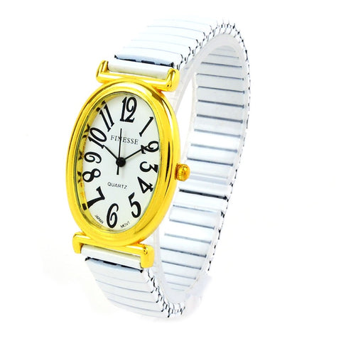 Clearance Sale - FInesse Gold Oval Watch