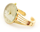 Gold GL String Style Band Luxury Women's Bangle Cuff Watch