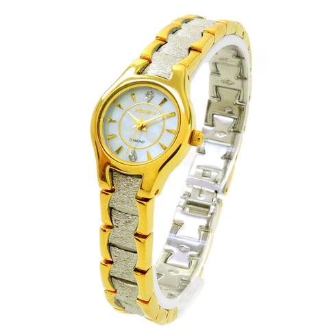 Clearance Sale - Elgin Ladies Round Case Two Tone Watch EG223SP