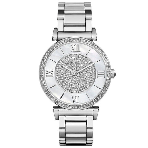 Michael Kors Women's MK3355 'Catlin' Crystal Stainless Steel Watch