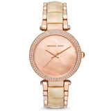 Michael Kors Parker Pink Mother of Pearl Dial Ladies Watch MK6492